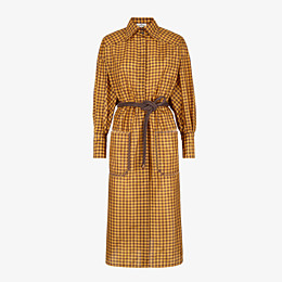 FENDI DRESS - Check silk dress - view 1 thumbnail