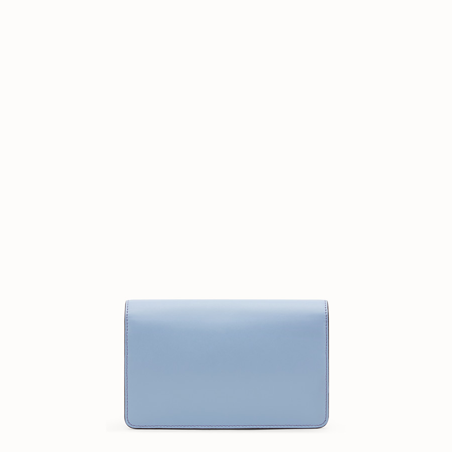 FENDI WALLET ON CHAIN - Light blue leather mini-bag - view 3 detail