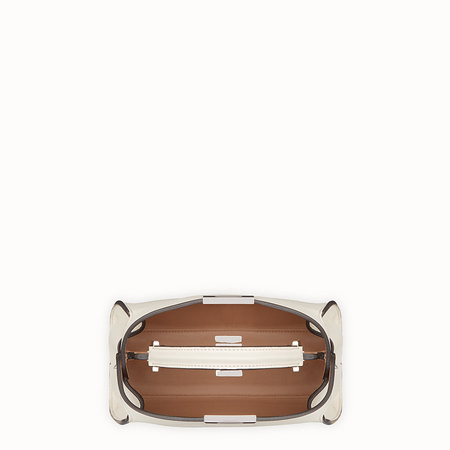 FENDI PEEKABOO ICONIC ESSENTIALLY - Beige leather bag - view 4 detail