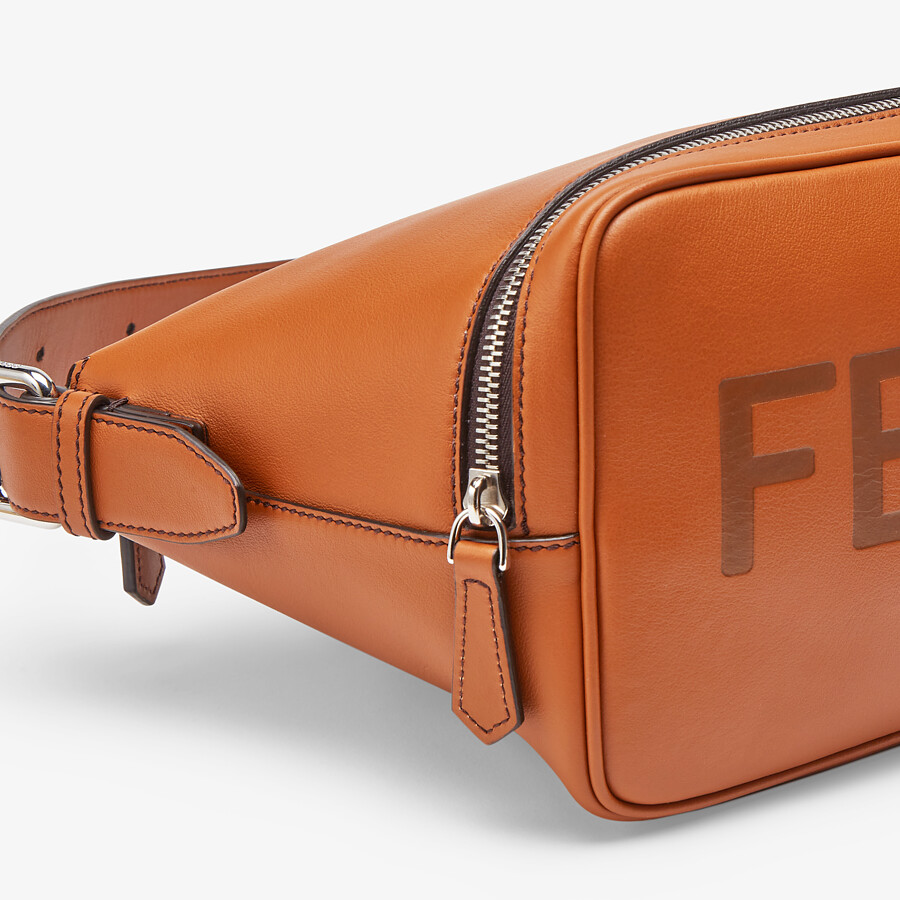 FENDI BELT BAG - Brown leather belt bag - view 5 detail