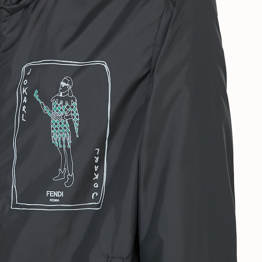 FENDI WINDBREAKER - Black nylon windbreaker - view 3 detail
