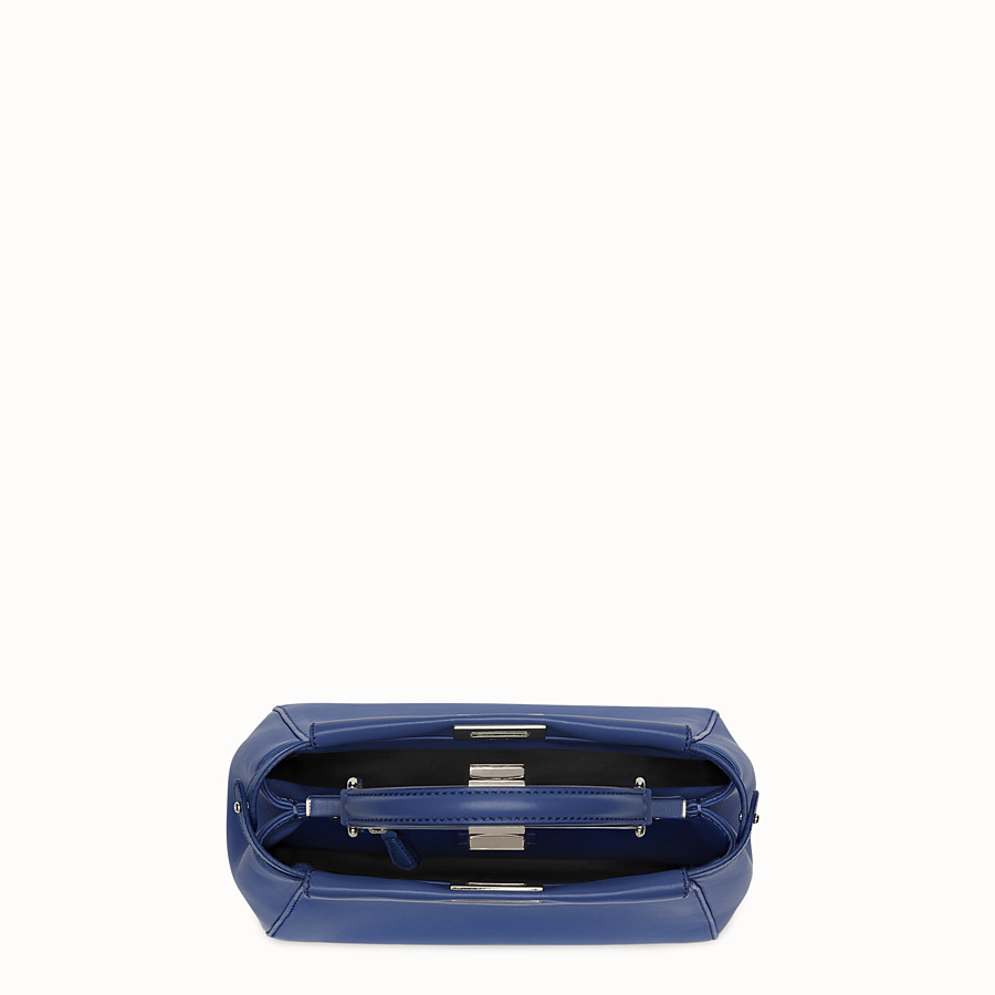 FENDI PEEKABOO MINI - sac à main en cuir nappa bleu - view 4 detail