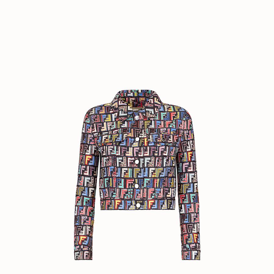 FENDI JACKET - Multicolour jacquard fabric jacket - view 1 detail