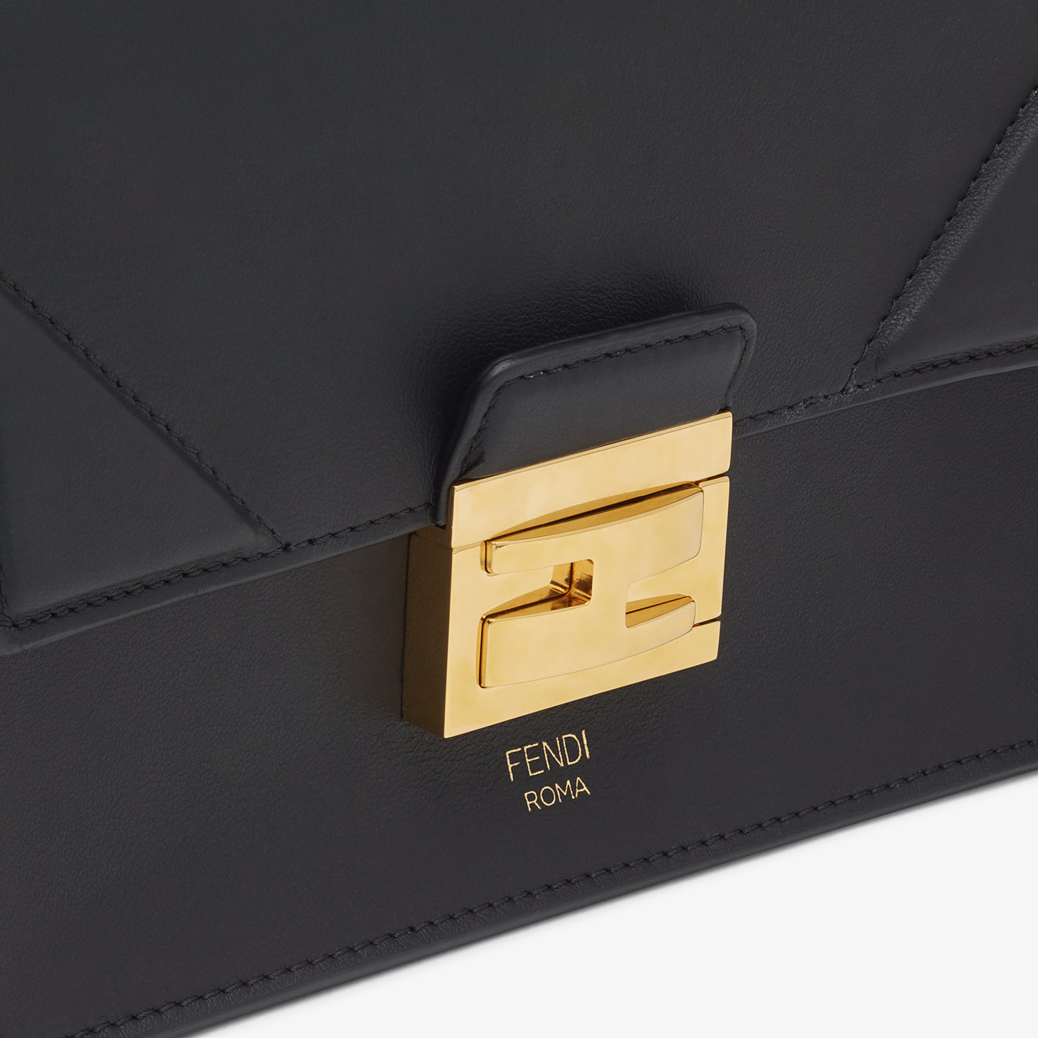 FENDI KAN U SMALL - Black leather mini-bag - view 5 detail