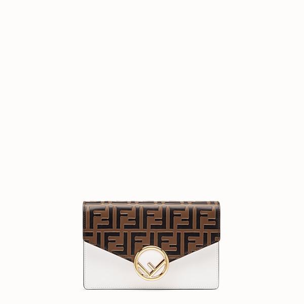 FENDI WALLET ON CHAIN - White leather mini-bag - view 1 small thumbnail