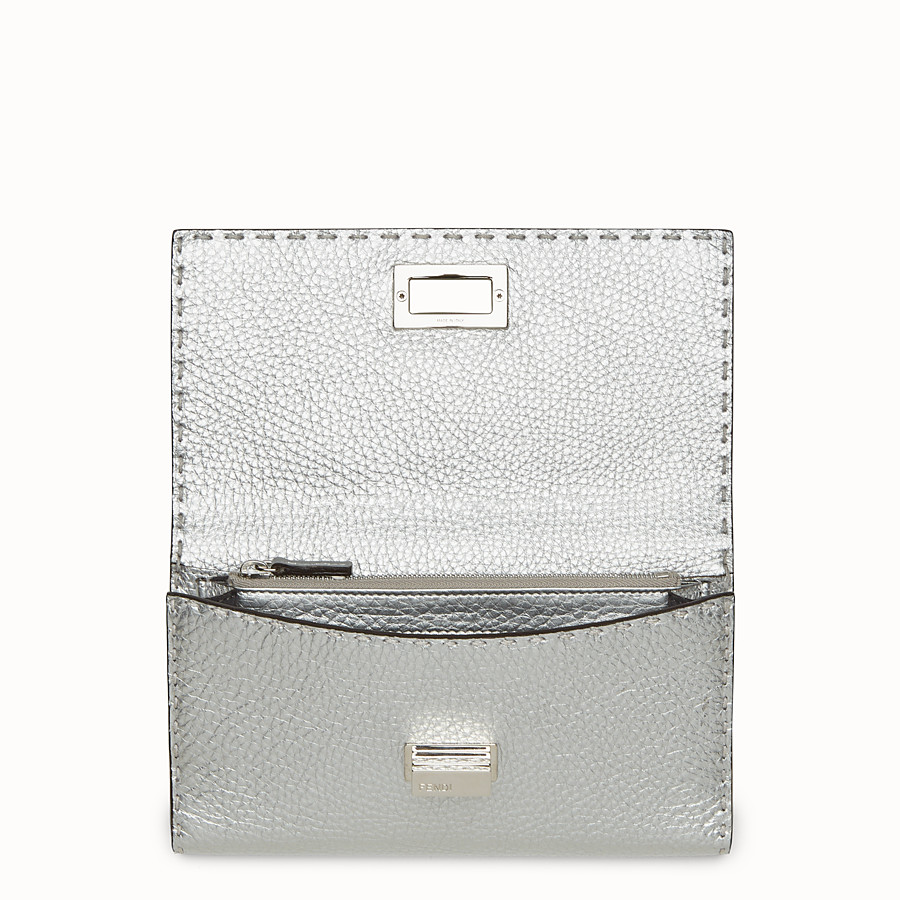 FENDI WALLET - in silver Roman leather - view 4 detail