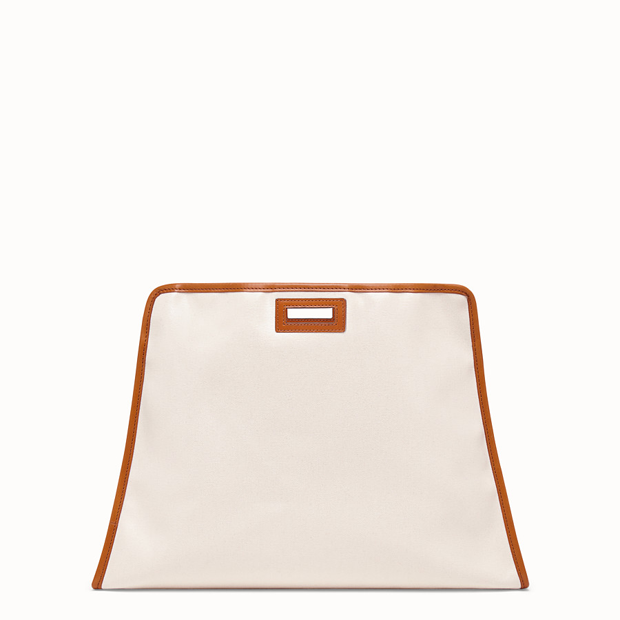 FENDI MEDIUM PEEKABOO DEFENDER - Beige canvas Peekaboo cover - view 3 detail