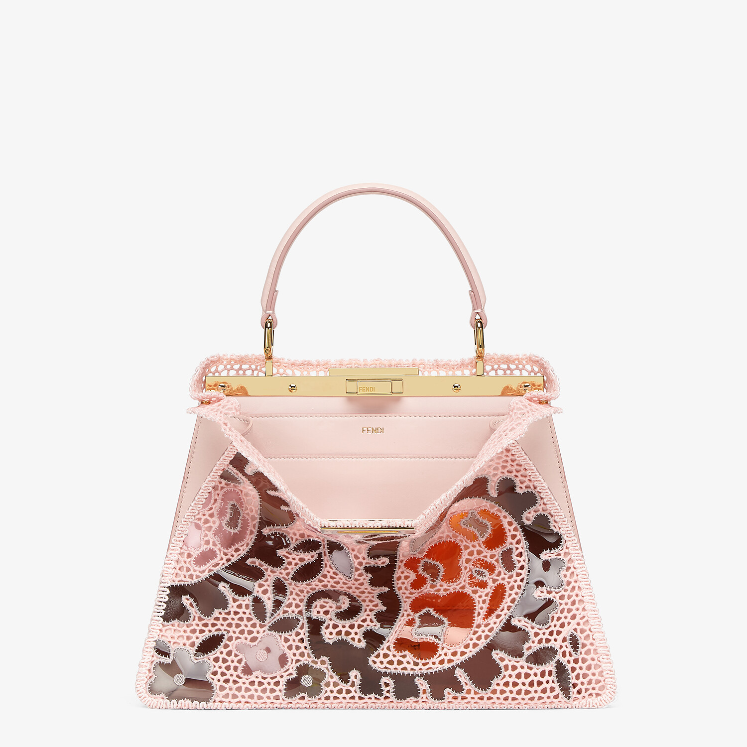 FENDI MEDIUM PEEKABOO ISEEU - Pink lace bag - view 1 detail