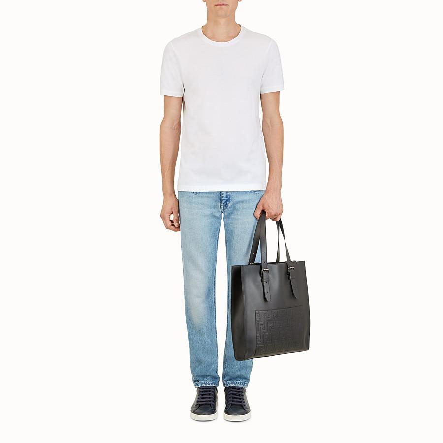 FENDI 手提袋 - 黑色皮革購物袋 - view 5 detail