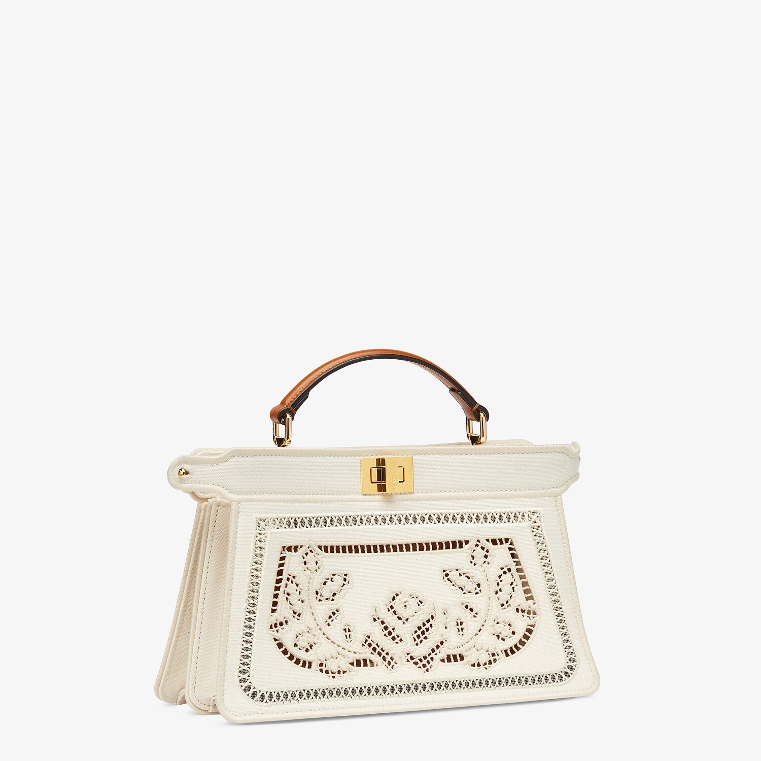 FENDI PEEKABOO ISEEU EAST-WEST - Canvas bag with embroidery - view 3 detail