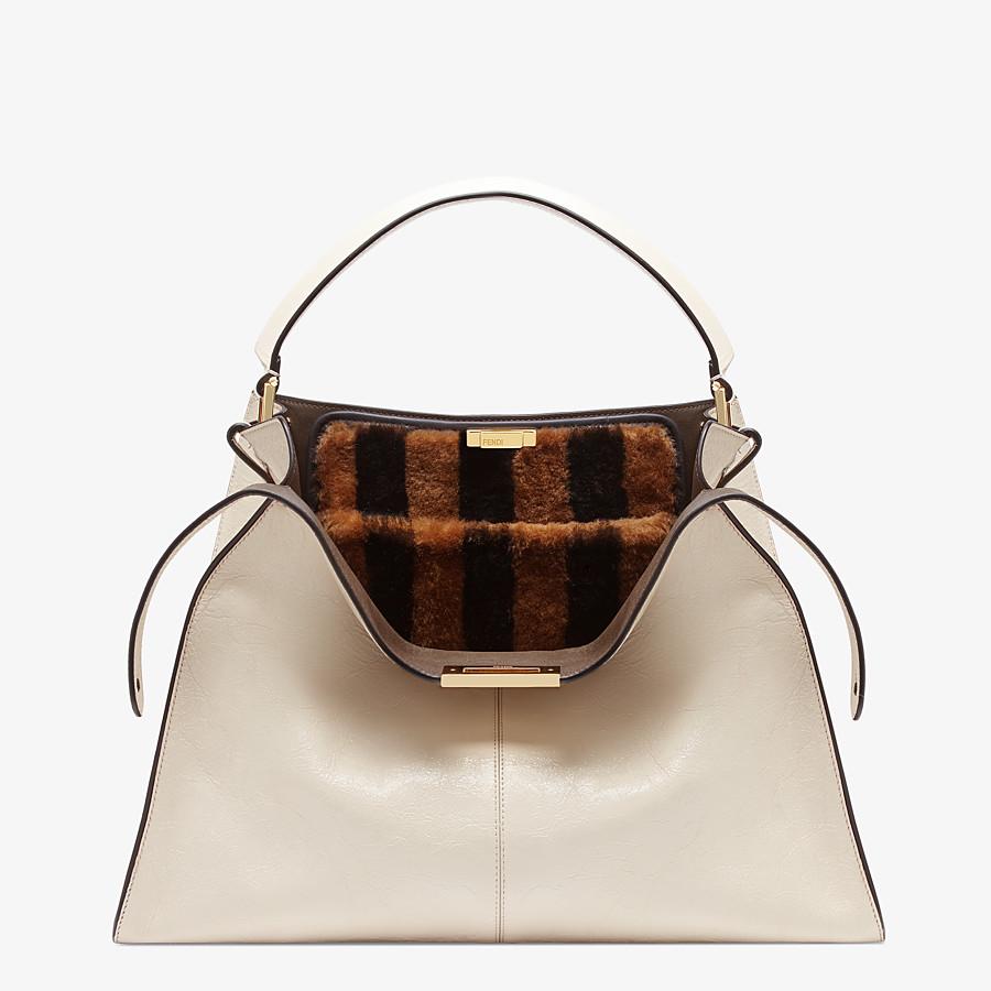 FENDI PEEKABOO X-LITE - White leather bag - view 1 detail