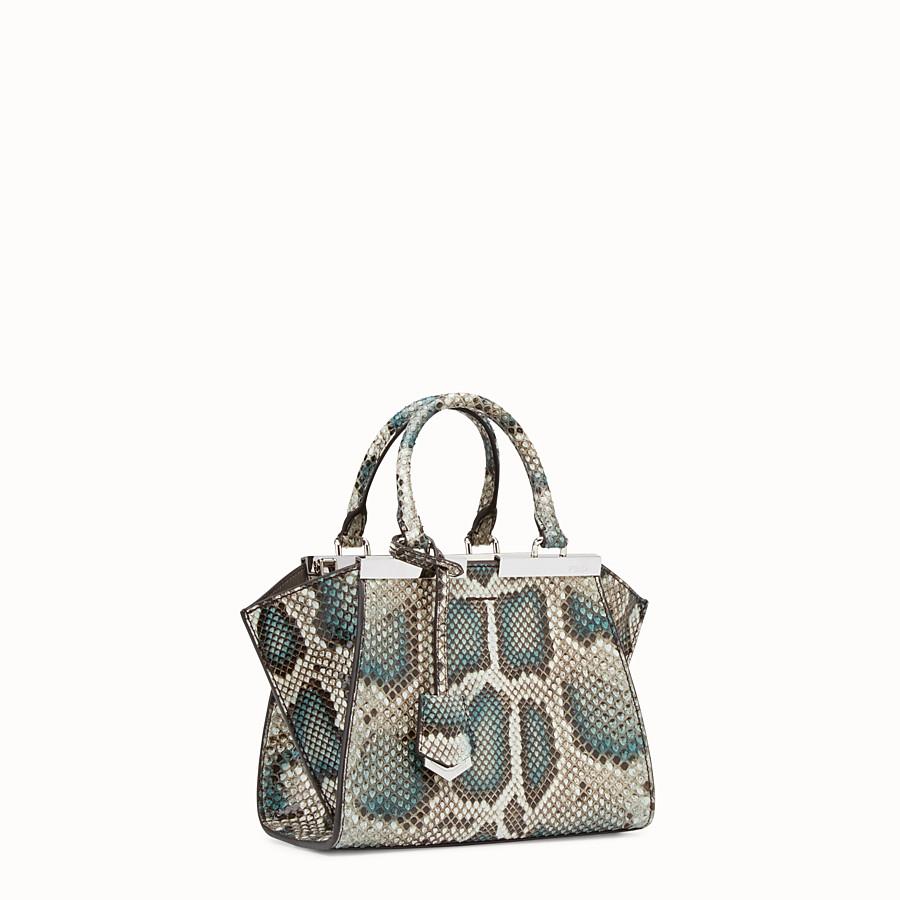 FENDI MINI 3JOURS - Python handbag in shades of green - view 2 detail