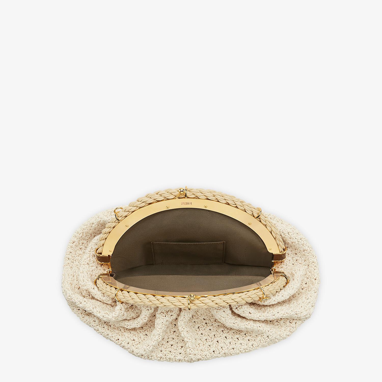 FENDI SHELL - White cotton-crochet pochette - view 5 detail