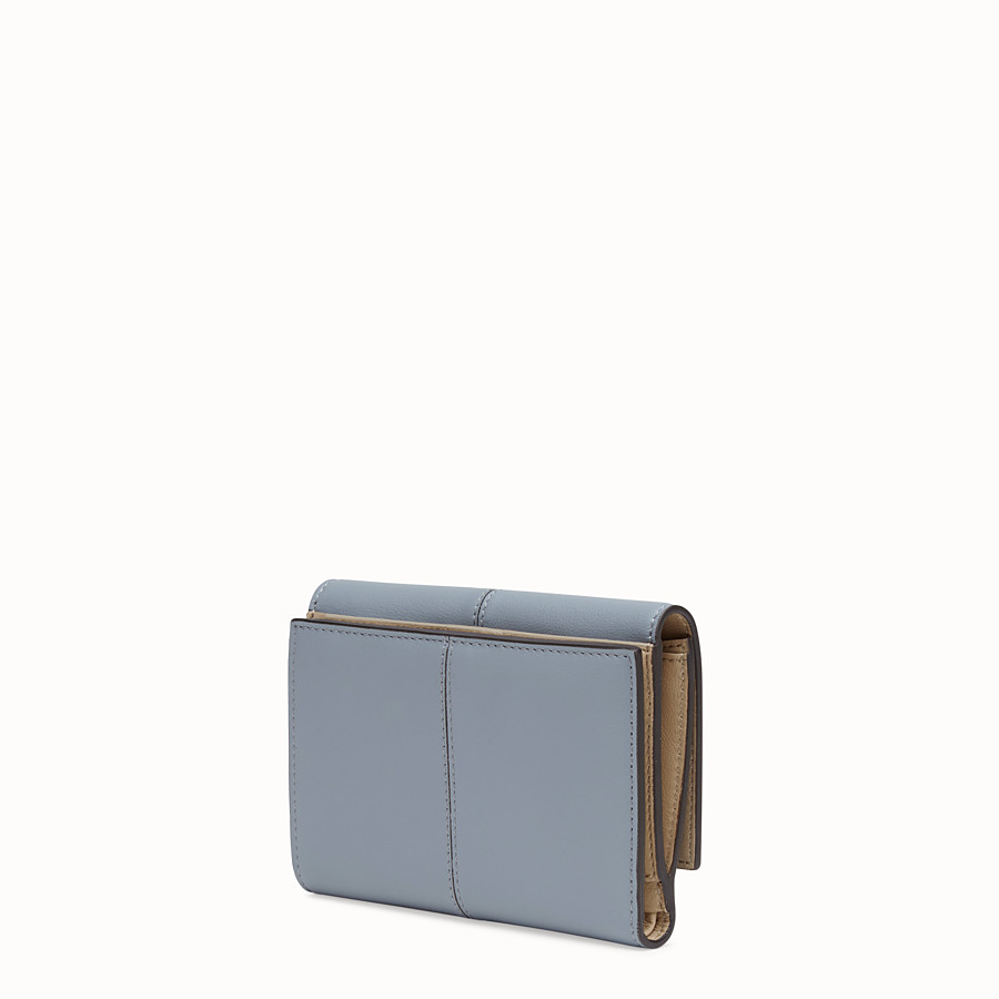 FENDI WALLET - Grey leather cardholder - view 2 detail