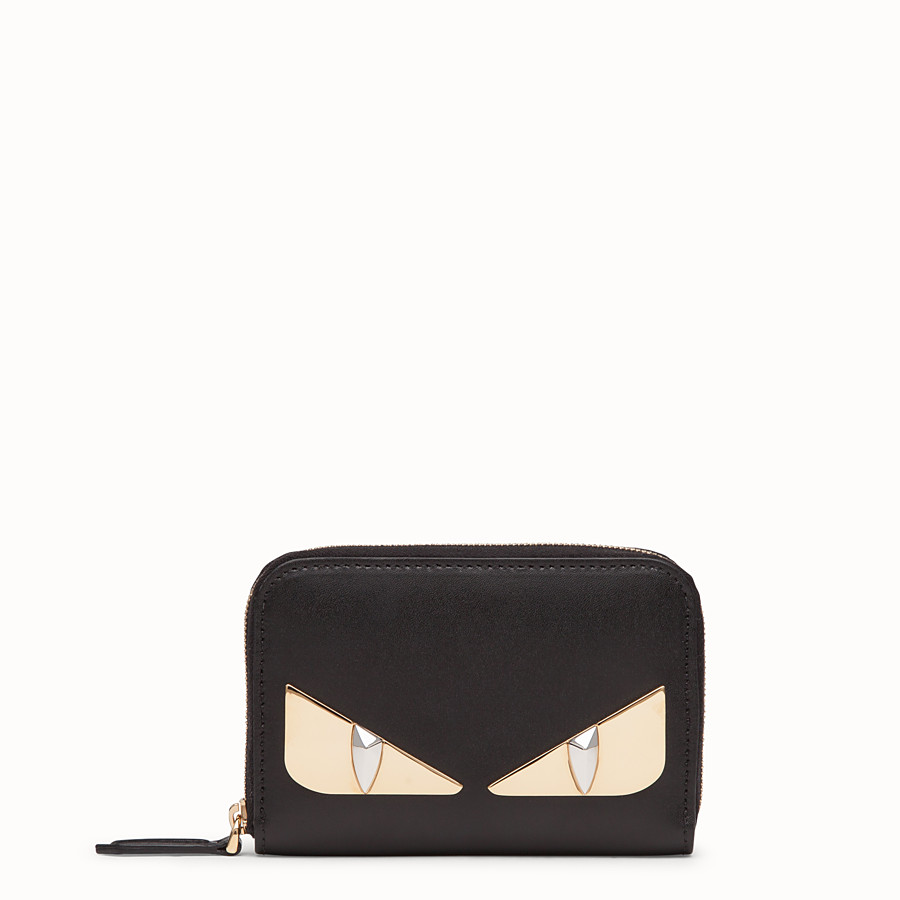 FENDI SMALL ZIP-AROUND - Black leather wallet - view 1 detail