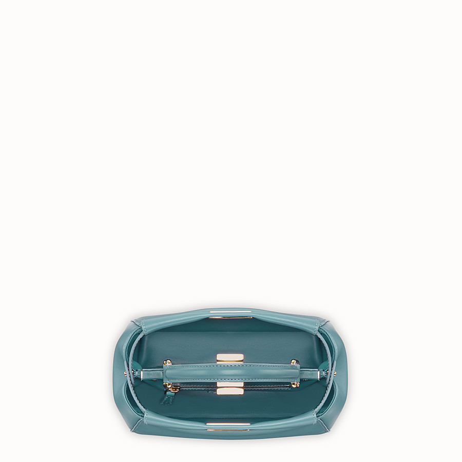 FENDI PEEKABOO ICONIC MINI - Light blue leather bag - view 4 detail