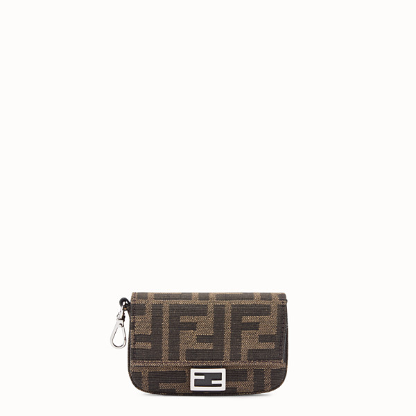 FENDI MICRO BAGUETTE CHARM - Brown fabric charm - view 1 small thumbnail