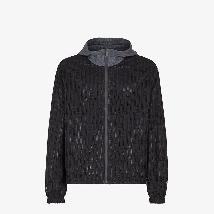 FENDI WINDBREAKER - Gray nylon jacket - view 4 detail