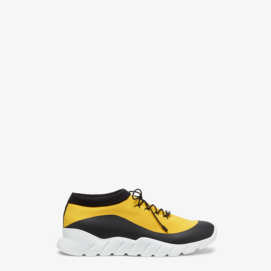 FENDI SNEAKERS - Yellow tech fabric low top - view 1 detail
