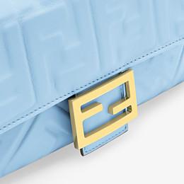 FENDI BAGUETTE - Light blue nappa leather bag - view 5 thumbnail