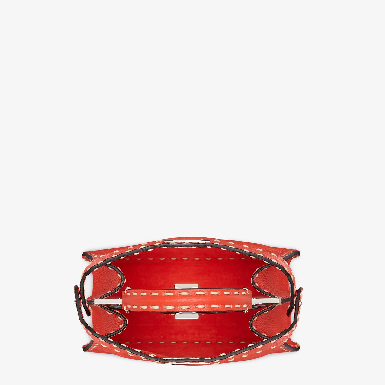 FENDI PEEKABOO ISEEU SMALL - Red full grain leather bag - view 4 detail