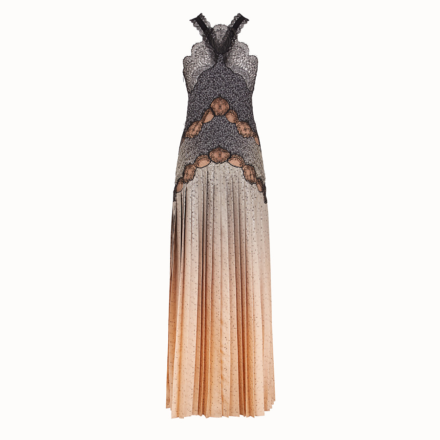 FENDI DRESS - Dress in beige silk twill - view 2 detail