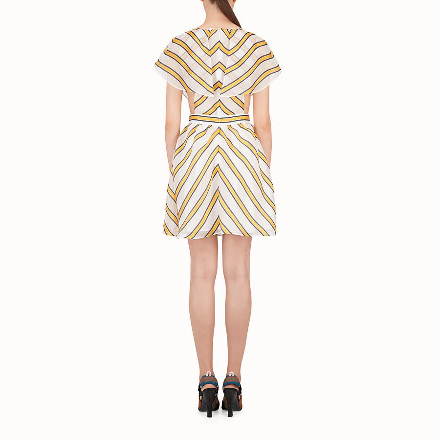 FENDI VESTIDO - Multicolour silk and jacquard dress - view 2 detail