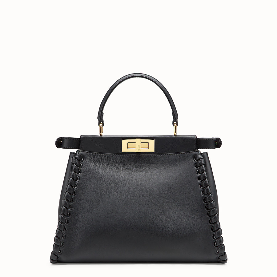 FENDI PEEKABOO ICONIC MEDIUM - Schwarze Ledertasche - view 3 detail