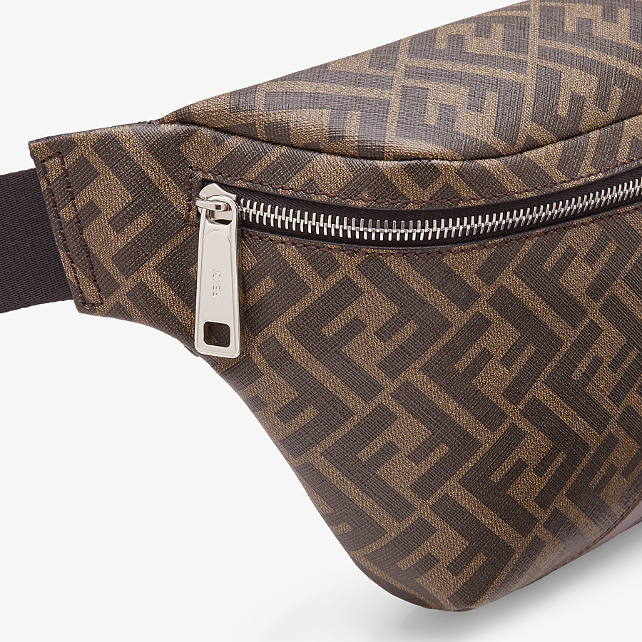 FENDI BELT BAG - Brown fabric belt bag - view 5 detail
