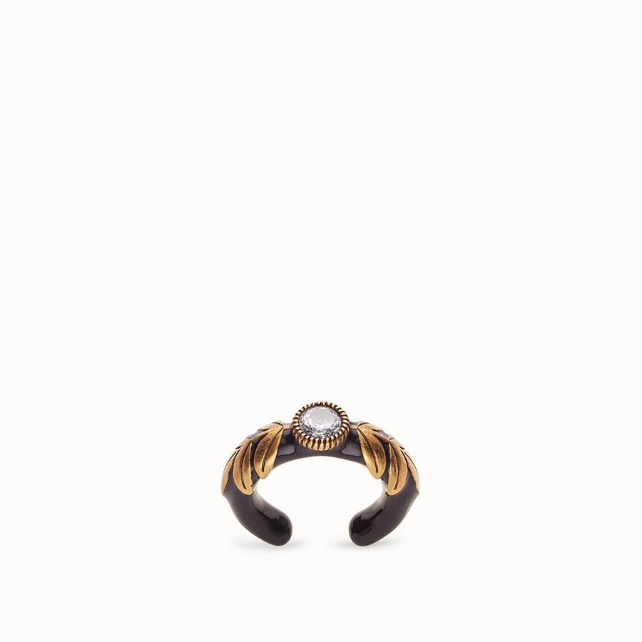 FENDI JULIUS CAESAR RING - Black and gold coloured ring - view 1 detail