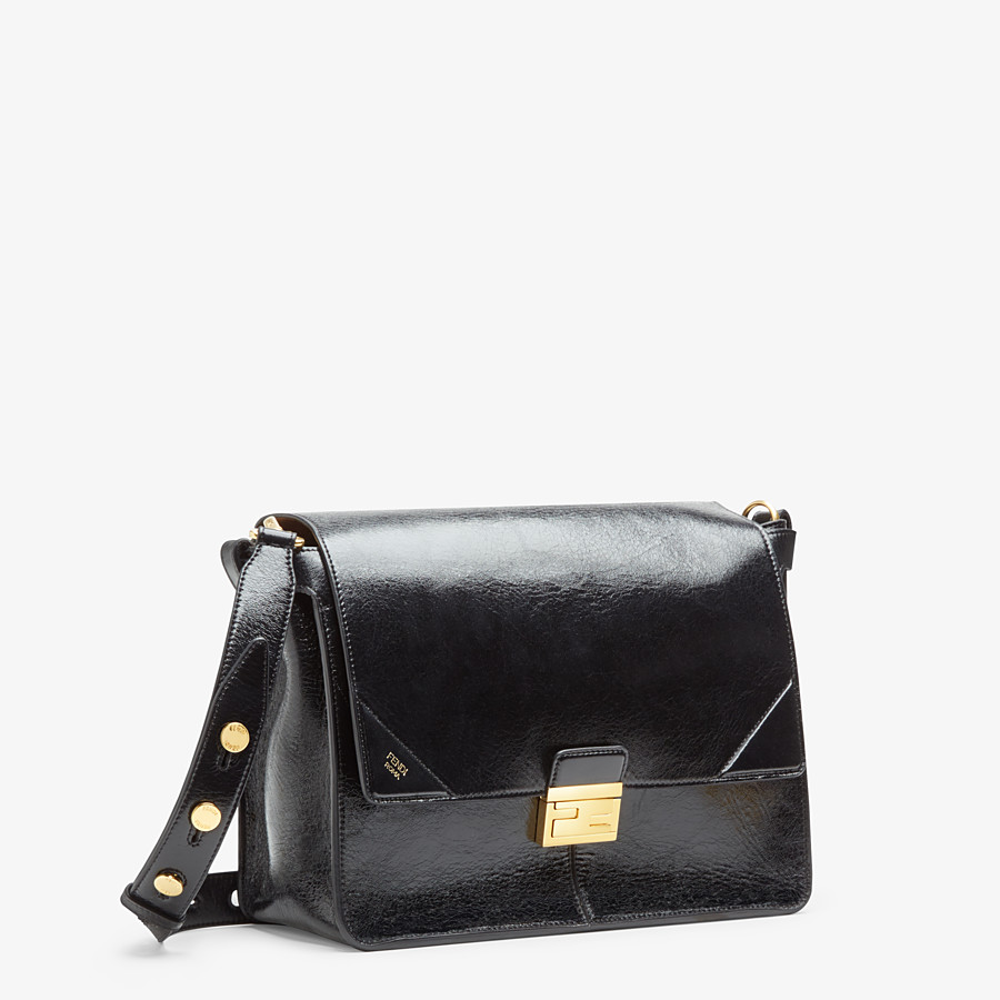 FENDI KAN U LARGE - Black leather bag - view 2 detail