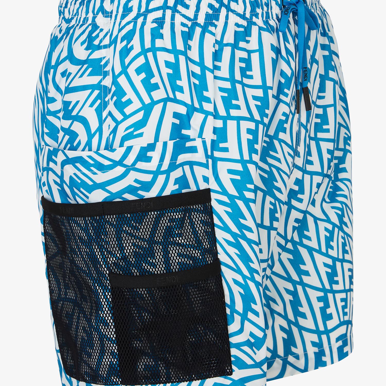 FENDI SWIM SHORTS - Multicolor Lycra® swimsuit - view 3 detail