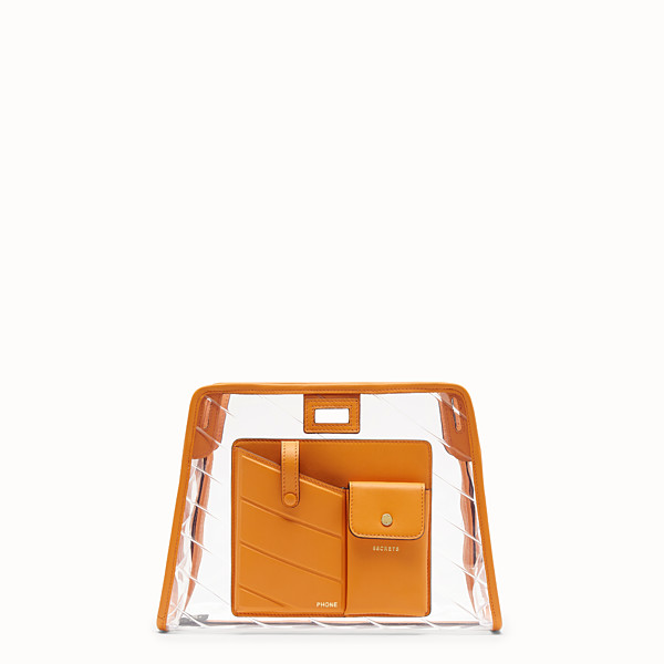 FENDI SMALL PEEKABOO DEFENDER - Peekaboo orange leather bag cover - view 1 small thumbnail