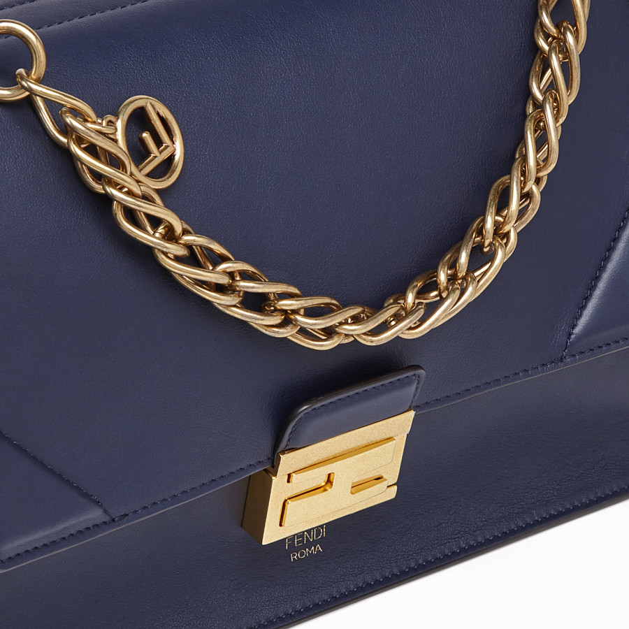 FENDI KAN U - Blue leather bag - view 6 detail