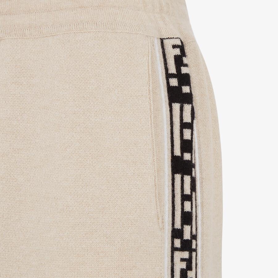 FENDI PANTS - Beige cashmere pants - view 3 detail