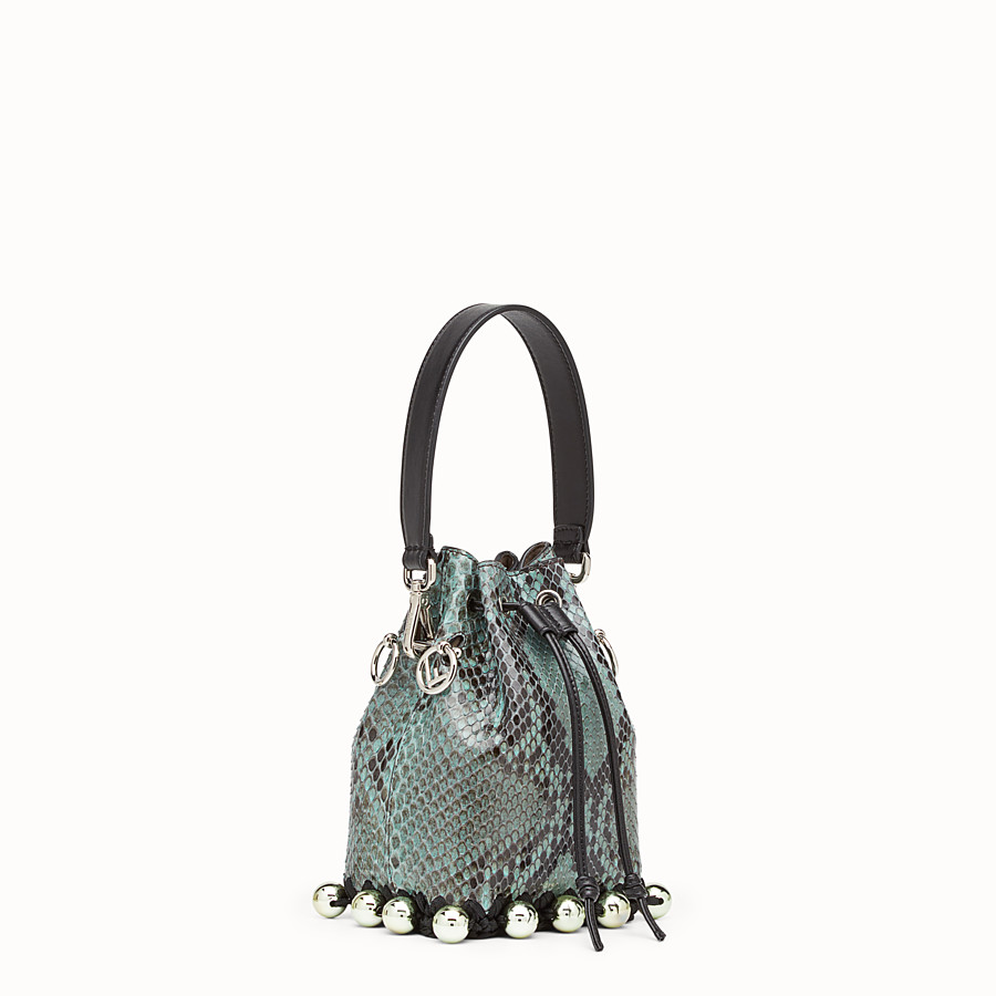 FENDI MON TRESOR - Green python mini-bag - view 2 detail