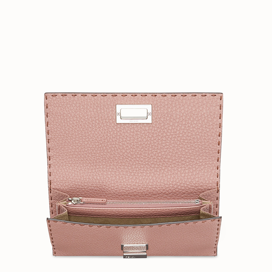 FENDI CONTINENTAL - Pink leather wallet - view 4 detail