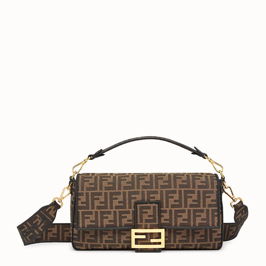 FENDI BAGUETTE LARGE - Brown fabric bag - view 1 detail