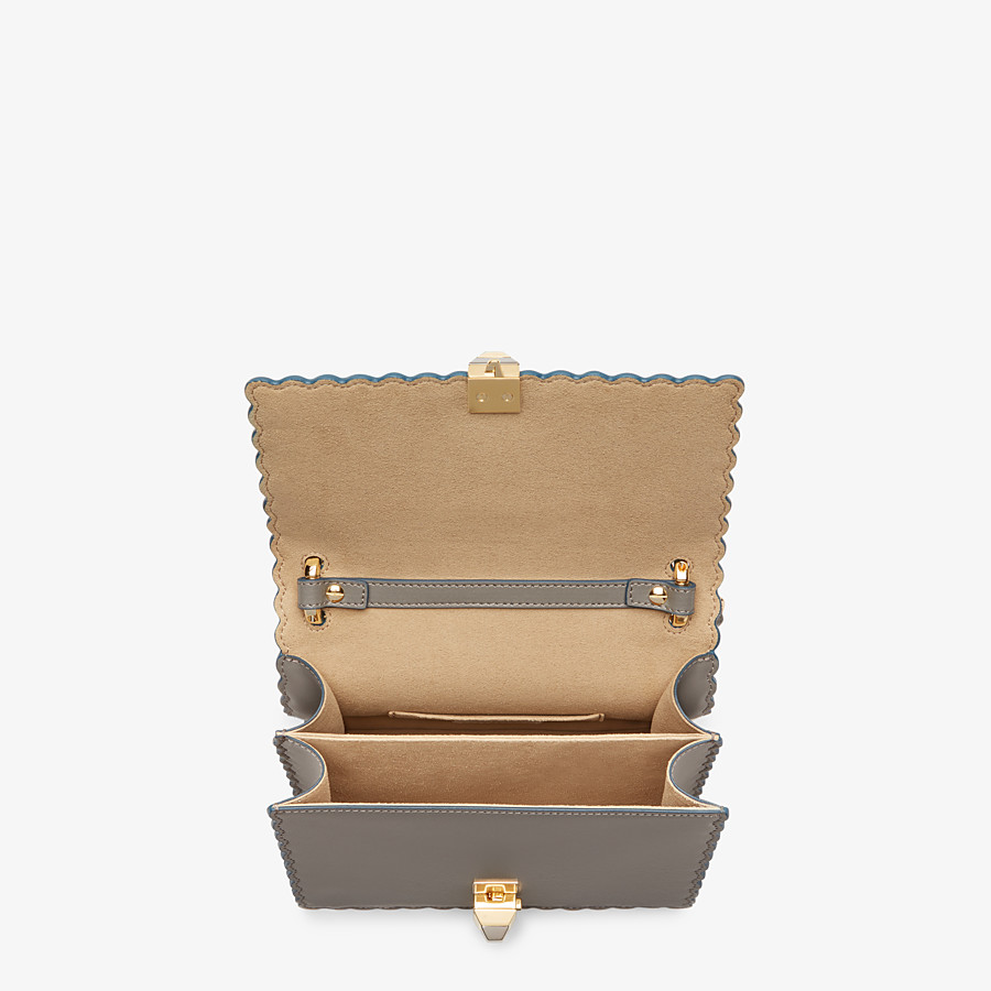 FENDI KAN I SMALL - Grey leather mini-bag - view 4 detail