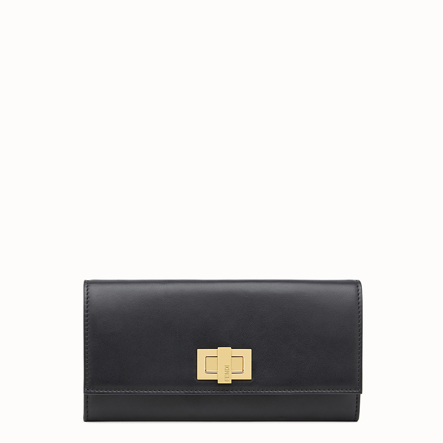 FENDI PEEKABOO CONTINENTAL WALLET - Continental wallet in black leather - view 1 detail
