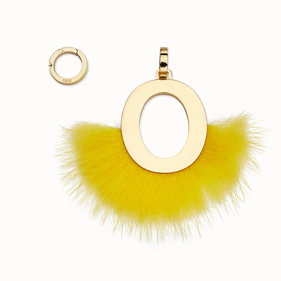 FENDI ABCLICK O - Pendant with fluorescent yellow fur - view 1 detail