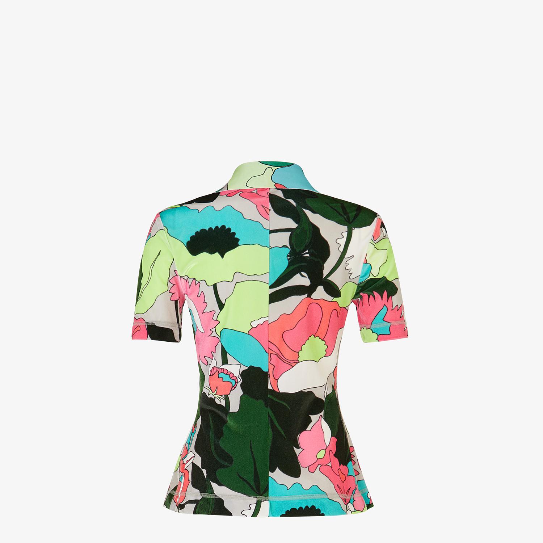 FENDI TOP - Multicolour chenille polo shirt - view 2 detail