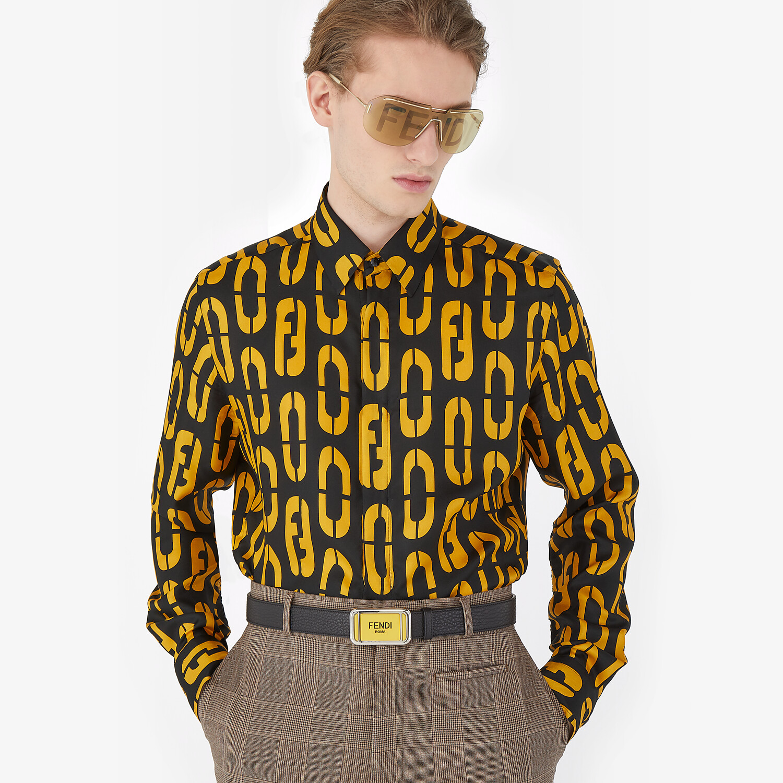 FENDI SHIRT - Multicolor silk shirt - view 4 detail