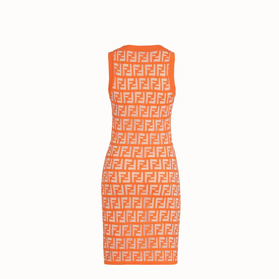 FENDI DRESS - Orange cotton dress - view 2 detail