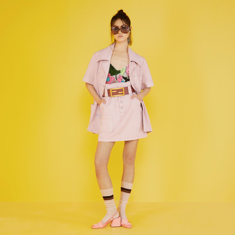 FENDI SKIRT - Pink denim skirt - view 4 detail