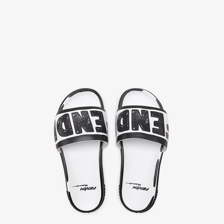 FENDI SANDALS - Fendi Roma Joshua Vides leather Fussbett sandals - view 4 detail