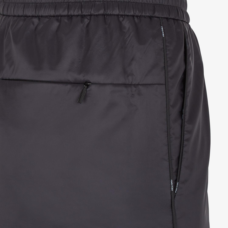 FENDI PANTS - Black nylon pants - view 3 detail