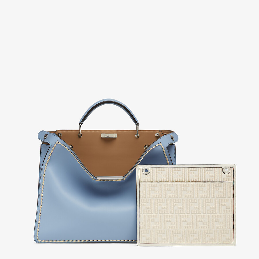 FENDI MEDIUM PEEKABOO ISEEU - Light blue leather bag - view 2 detail