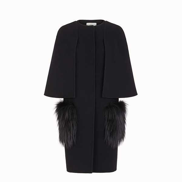 FENDI OVERCOAT - Black wool coat - view 1 small thumbnail