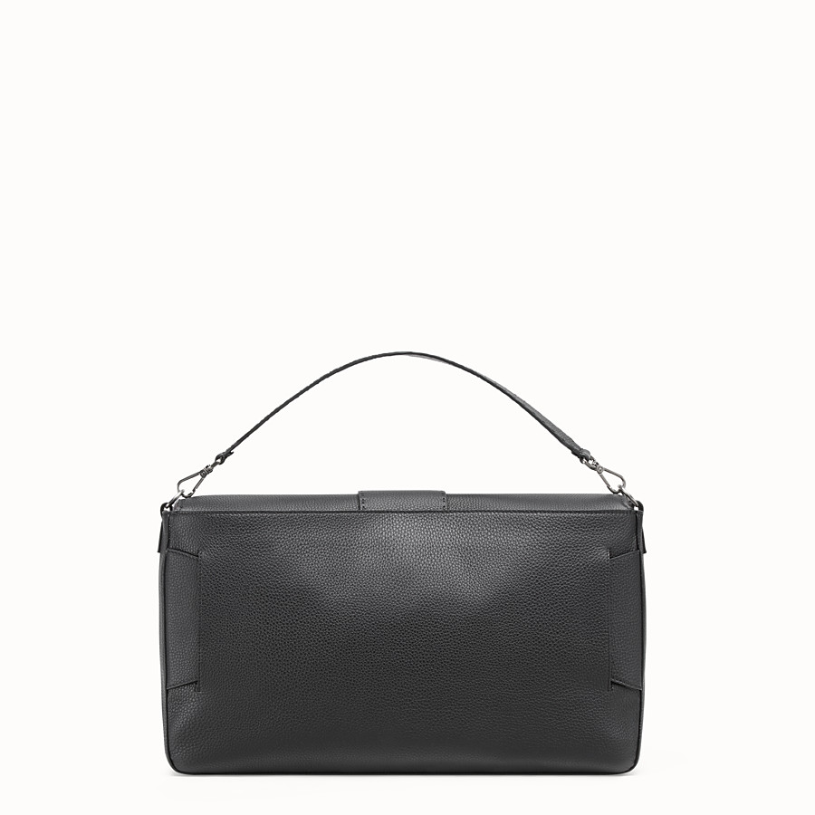 FENDI BAGUETTE - Black leather bag - view 4 detail
